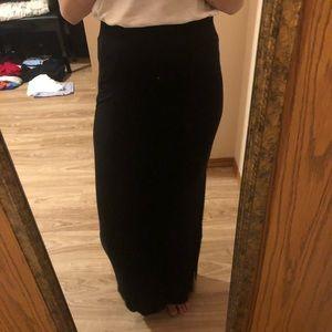 Old Navy black maxi skirt